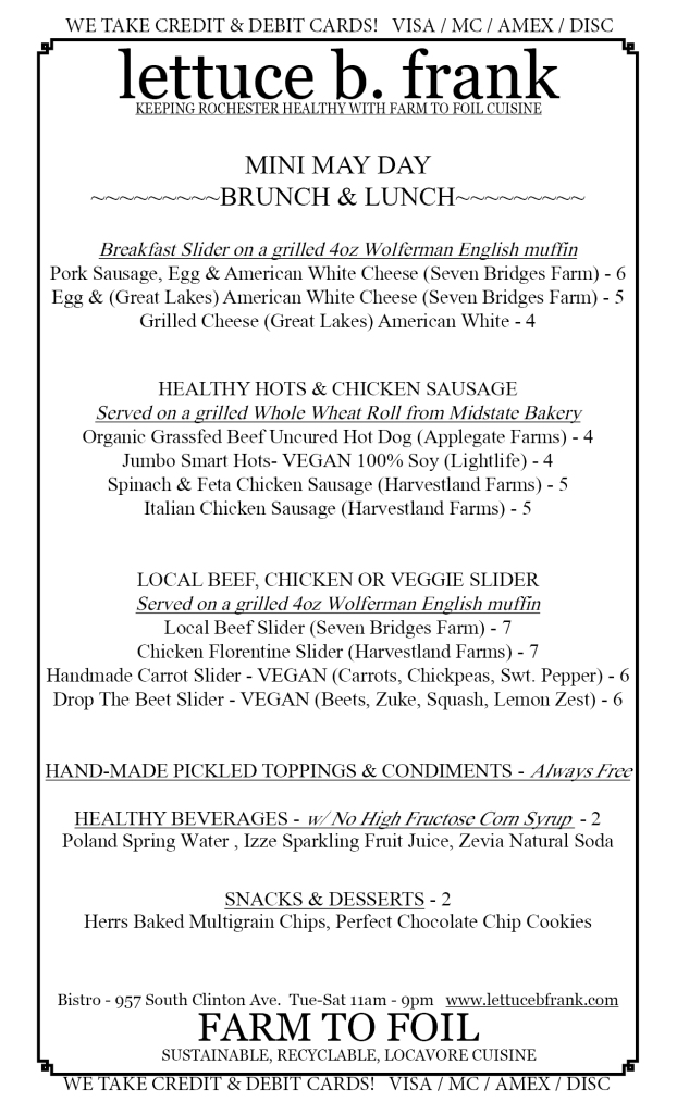 LBF MayDay Brunch-Lunch Menu